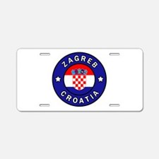 Zagreb Croatia Aluminum License Plate