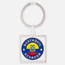 Cute Ecuadorian Square Keychain