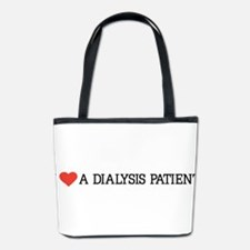 I love a dialysis patient Bucket Bag