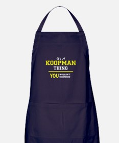 It's A KOOPMAN thing, you wouldn't un Apron (dark)