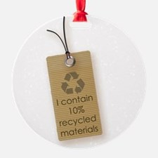 I contain 10% recycled materials (vertical) Orname