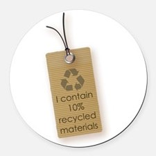 I contain 10% recycled materials (vertical) Round