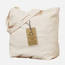 I contain 10% recycled materials (vertical) Tote B