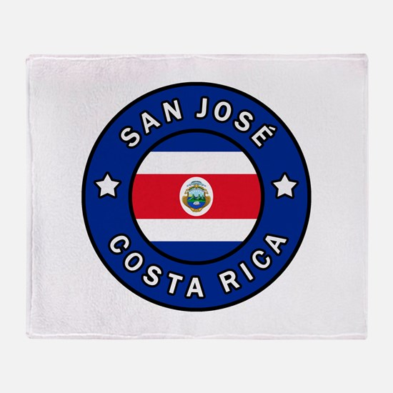 San Jose Costa Rica Throw Blanket