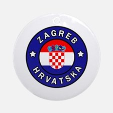 Unique Hrvatska Round Ornament