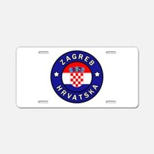 Zagreb Hrvatska Aluminum License Plate