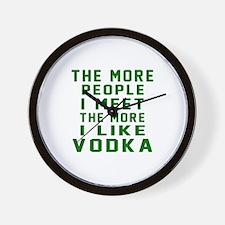 I Like Vodka Wall Clock