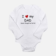 I love dad (fart humor) Body Suit