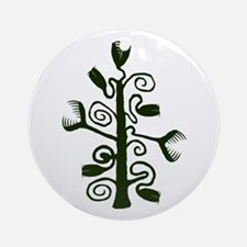 Horror Plant Round Ornament