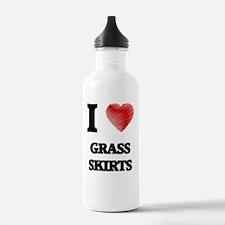 I love Grass Skirts Water Bottle