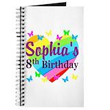 8th birthday girl Journals & Spiral Notebooks