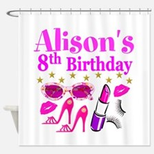 HAPPY 8TH Shower Curtain