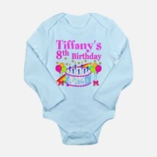 HAPPY 8TH Long Sleeve Infant Bodysuit