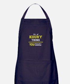 It's A KOURY thing, you wouldn't unde Apron (dark)