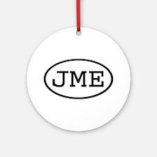 JME Oval Ornament (Round)