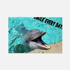 Smiling dolphin Rectangle Magnet (10 pack)