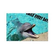 Smiling dolphin Rectangle Magnet
