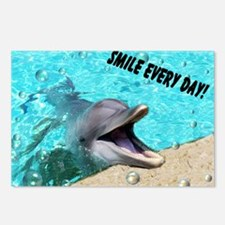 Smiling dolphin Postcards (Package of 8)