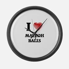 I love Matzoh Balls Large Wall Clock