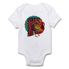 Thanksgiving Jeweled Turkey Infant Bodysuit