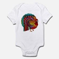 Thanksgiving Jeweled Turkey Infant Bodysuit