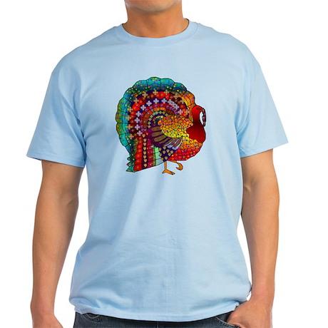 Thanksgiving Jeweled Turkey Light T-Shirt