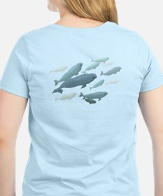 Beluga Whales Women's Light Whales T-Shirt