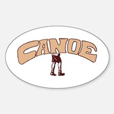 Canoe Oval Decal