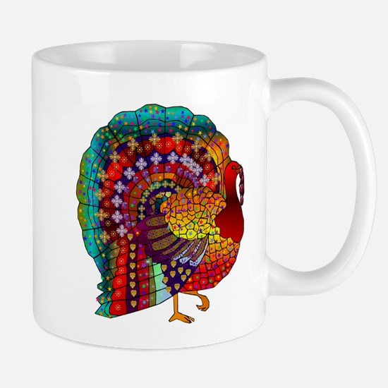 Thanksgiving Jeweled Turkey Mug