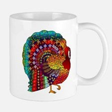 Thanksgiving Jeweled Turkey Small Small Mug
