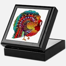 Thanksgiving Jeweled Turkey Keepsake Box