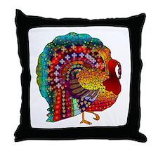 Thanksgiving Jeweled Turkey Throw Pillow