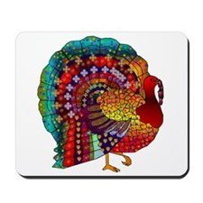 Thanksgiving Jeweled Turkey Mousepad