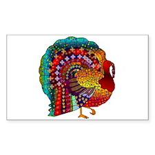 Thanksgiving Jeweled Turkey Decal