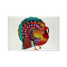 Thanksgiving Jeweled Turkey Rectangle Magnet