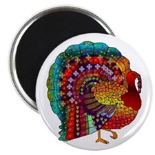 """Thanksgiving Jeweled Turkey 2.25"""" Magnet (100 pack"""