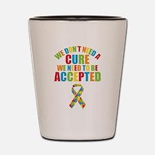 Autism Acceptance Shot Glass
