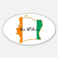 Cool Cote d'Ivoire Oval Decal