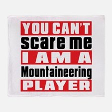 I Am Mountaineering Player Throw Blanket