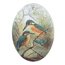 Kingfisher Oval Ornament