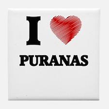 I love Puranas Tile Coaster