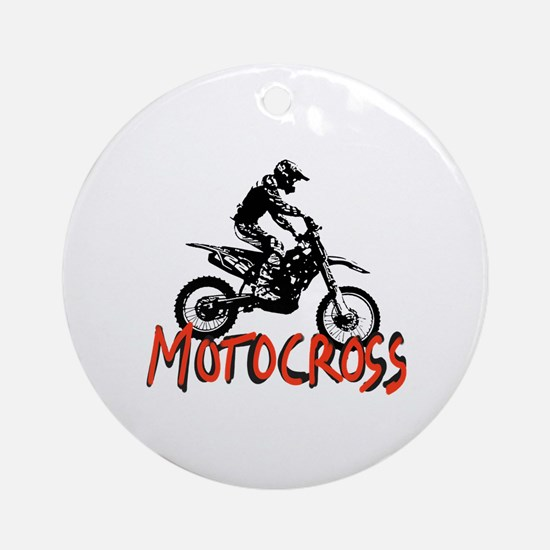 Funny Motorcycle Round Ornament