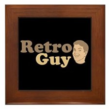 Retro Guy Framed Tile
