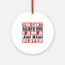 I Am Jai Alai Player Round Ornament