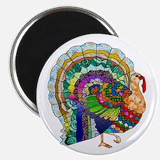 Patchwork Thanksgiving Turkey Magnet