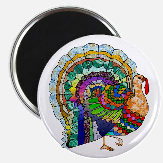 Patchwork Thanksgiving Turkey Magnet