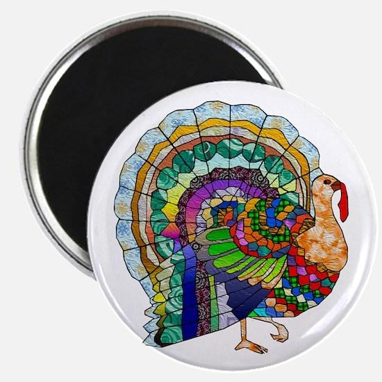 "Patchwork Thanksgiving Turkey 2.25"" Magnet (10 pac"