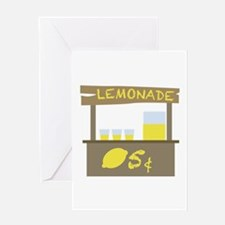 Lemonade Stand Greeting Cards