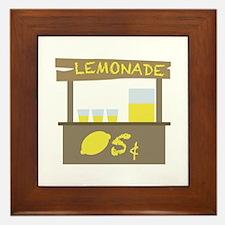 Lemonade Stand Framed Tile