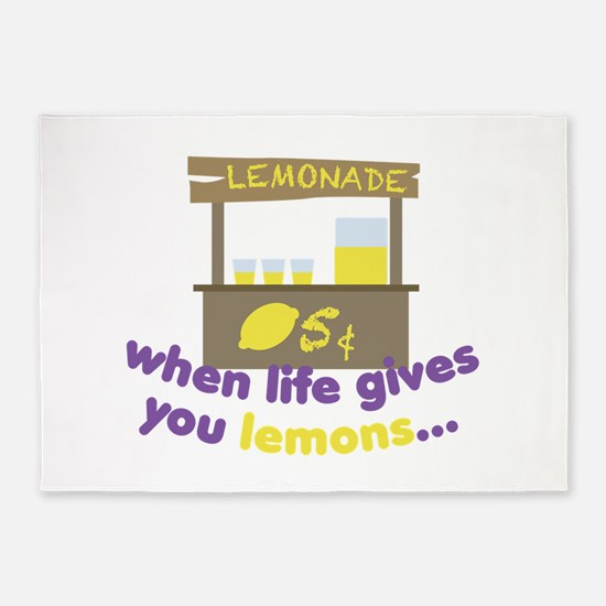 Life Gives Lemons 5'x7'Area Rug